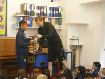 Presentation of Year Books to Year 6, 2016